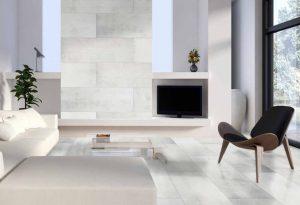 Classen sienų ir grindų vinilinė danga - Ceramin Vario - White Venetian plaster / 44079